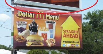 Werbung, die eindeutig falsch platziert wurde